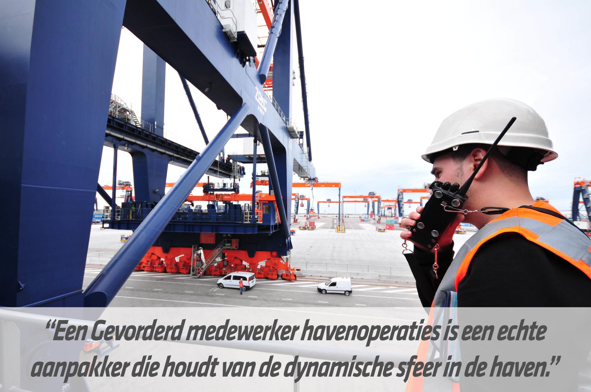 Mbo-opleiding Gevorderd medewerker havenoperaties | STC mbo college Rotterdam