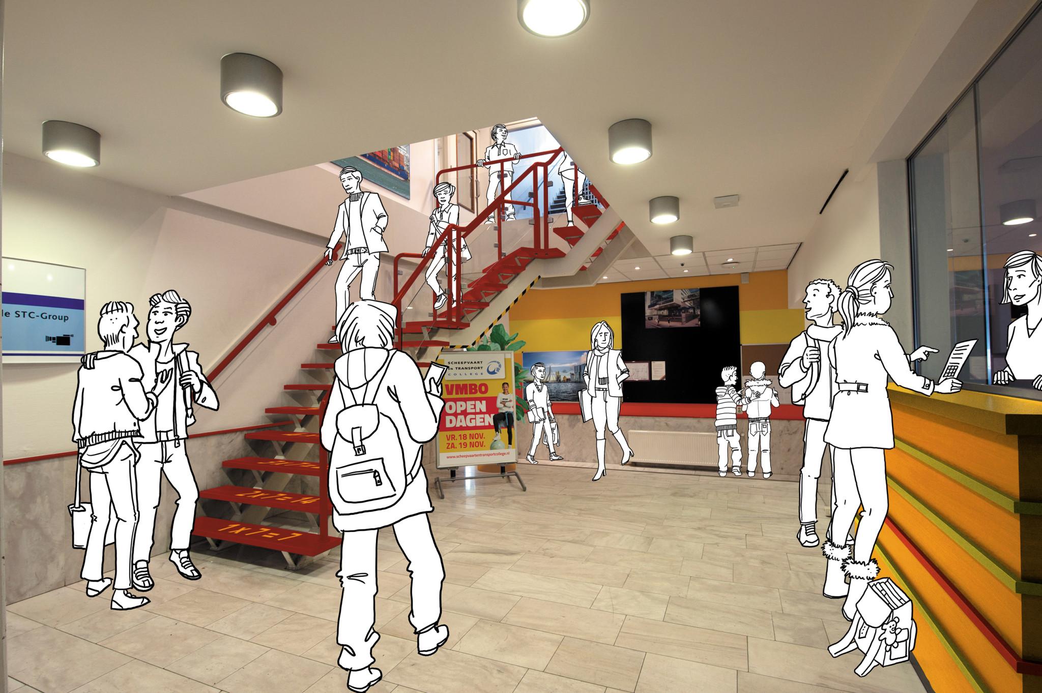 Centrale hal binnenkomst