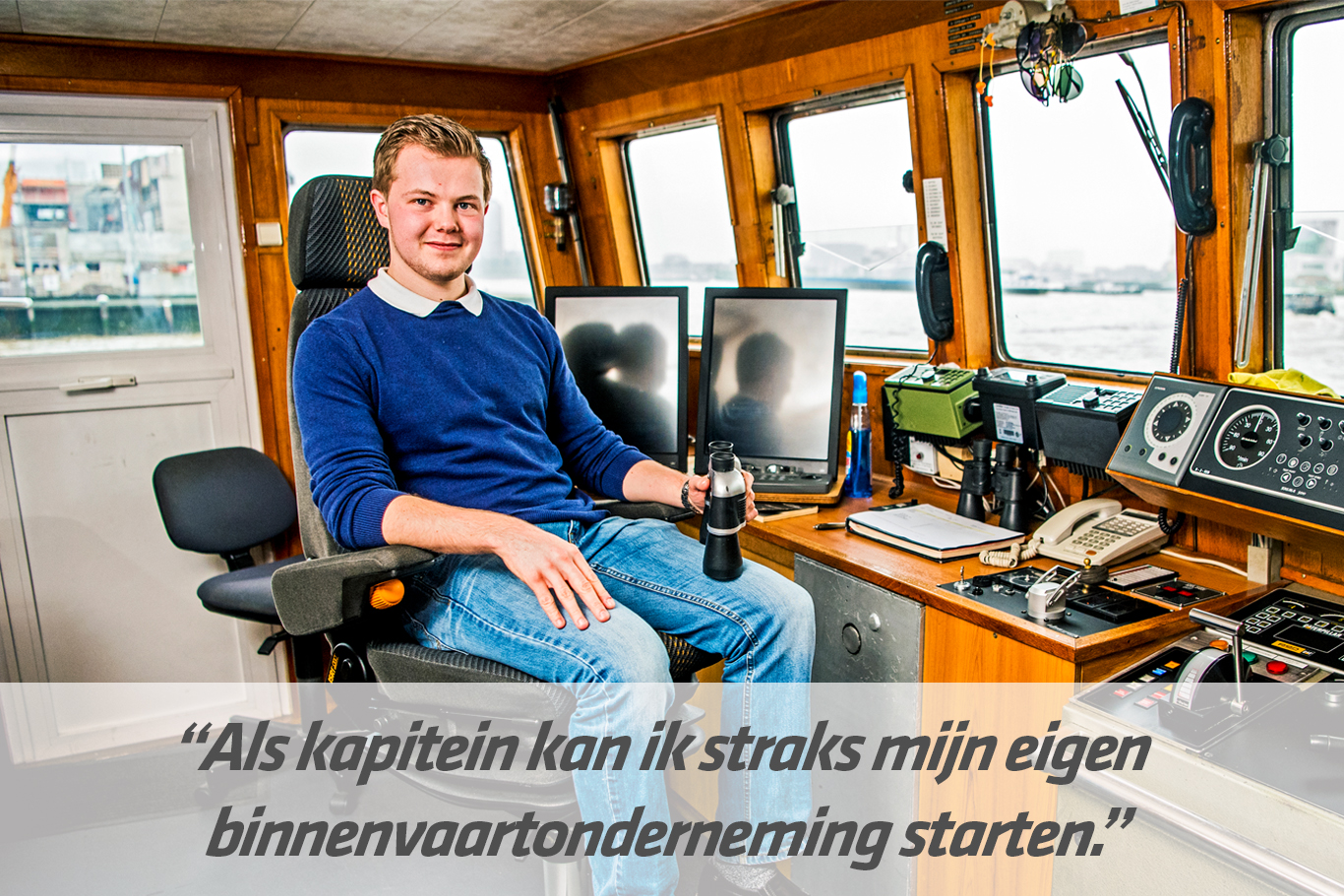 Mbo-opleiding Kapitein binnenvaart | STC mbo college Rotterdam